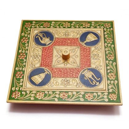 Square Kundan Dry Fruit Box - Color Crave