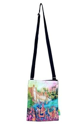 Small Indian Art Parade Cotton Sling Bag - Eco Corner