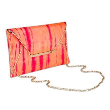 Lipstick Tiedye Envelope Hand Bag - Arancia