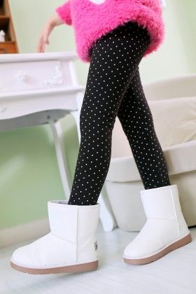 Black Polka Dotted Leggings - Jazzy Snazzy