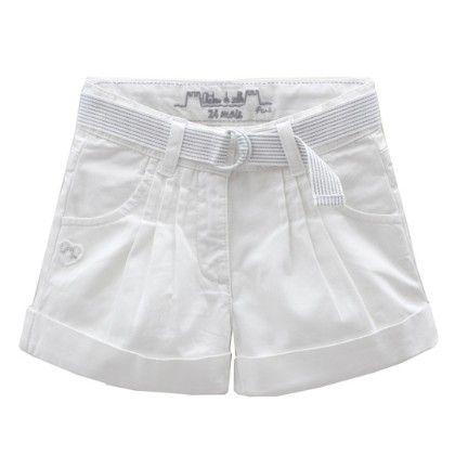 Apolline Shorts With Pin Tucks White - Chateau De Sable