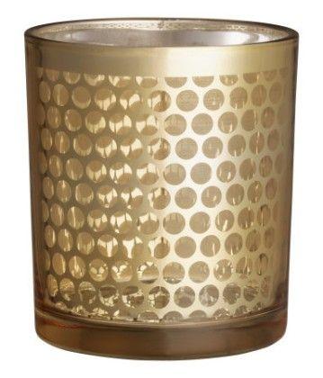 Glass Tea Light Holder - Gold - H&M Home