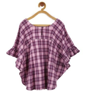 Pink & Purple Poncho Flannel Top - My Lil'Berry