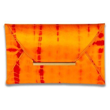 Sunshine Orange Tiedye Envelope Hand Bag - Arancia