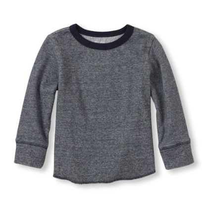 Long Sleeve Crew Neck Knit Top - Tidal - The Children's Place