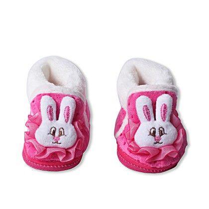 Ole Baby Soft Furry 3d Ole Toons Booties Fuchsia