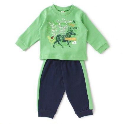 Me & My Zebra Full Sleeves Set - Green / Navy - ZERO