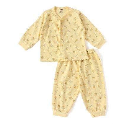 Yellow Teddy With Car Print Full Sleeves Set - ZERO