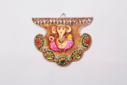 Key Holder Fan Ganpati - Color Crave