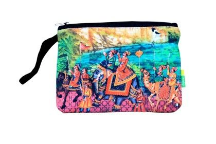 Big Indian Art Parade Cotton Pouch - Eco Corner
