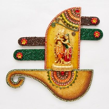 Radha Krishna Veena Wall Decor - Color Crave