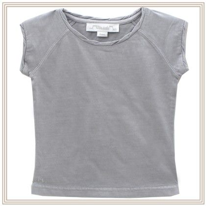 Celestine Sleeveless T-shirt With Star Grey - Chateau De Sable