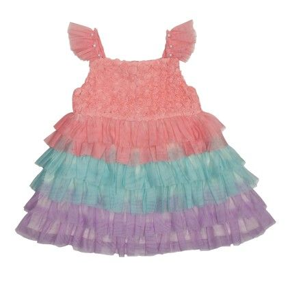 Naw15-902_multi Colored Tiered Party Sundress With Ruffled Strapes - Nauti Nati