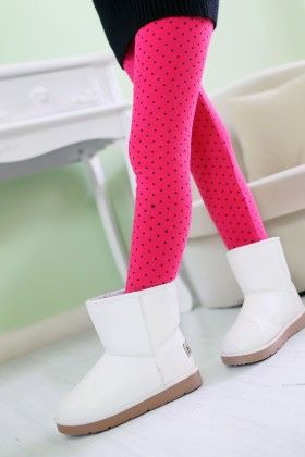 Pink Polka Dotted Leggings - Jazzy Snazzy