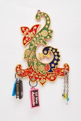 Key Holder Desinger Feather - Color Crave