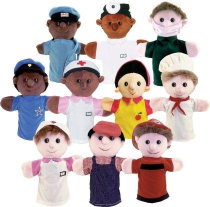 Community Helper Puppets - Set Of 10 - Get Ready Kids