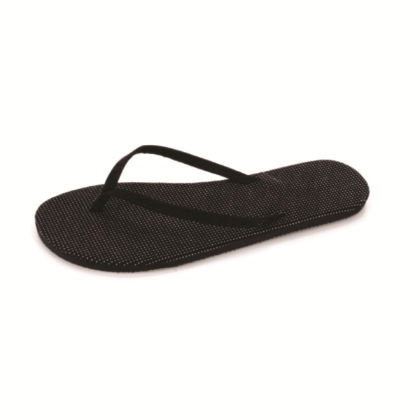 Womens Solid Black Slippers - Fresko