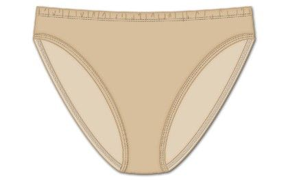 Plus Hi Cut Brief Beige - Rene Rofe