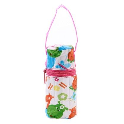 Bottle Cover-cylindrical 125ml-pink - Morisons* Baby Dreams