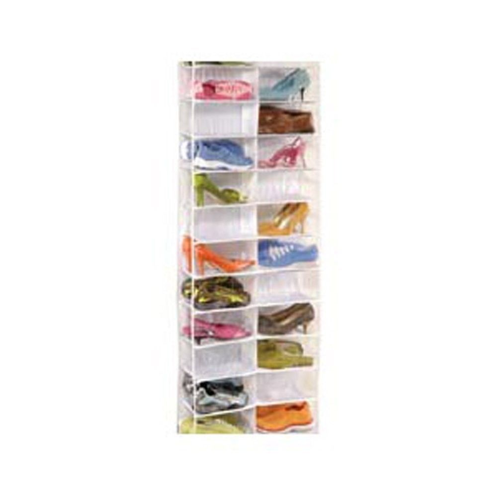 Clearly Organized Clear 26-pocket Over The Door Shoe - Richard Homewares