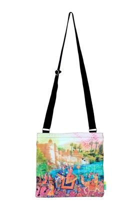 Indian Art Parade Cotton Sling Bag - Eco Corner