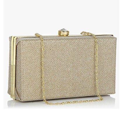 Rose Gold Shimmer Clutch Hand Bag - Arancia
