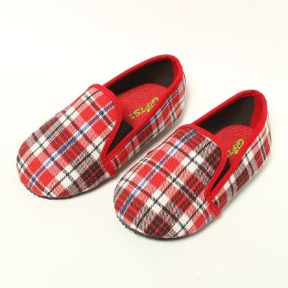 Red, White And Grey Checks - Gift Shoes