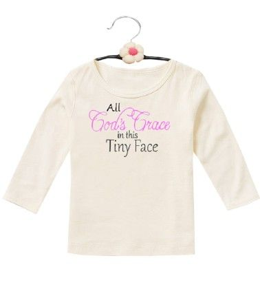 Cute Love Tee For Baby Girls- White - D'chica