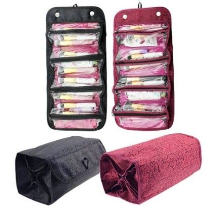 Connectwide-roll-n-go Organizer - Pink Or Maroon