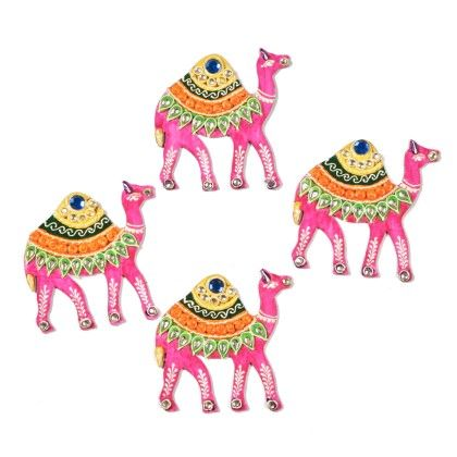 Colorfull Camel Floor Rangolli Set Of 8 1 - Color Crave