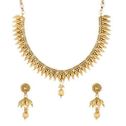 Voylla Gold Toned Necklace Set Featuring Eye-catching Finish