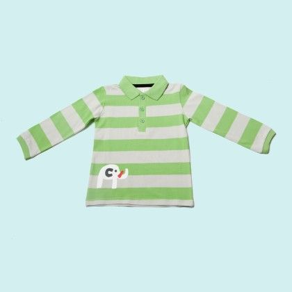Green And White Polo Shirt - Lourdes