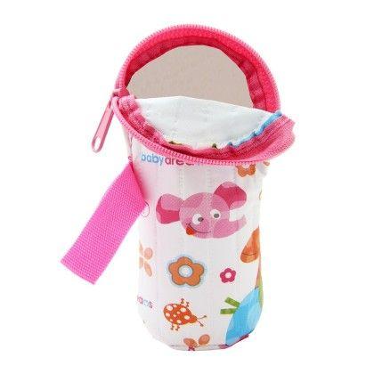 Bottle Cover-flat 125ml-pink - Morisons* Baby Dreams