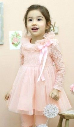 Pink Lace Dress - Lilpicks Couture