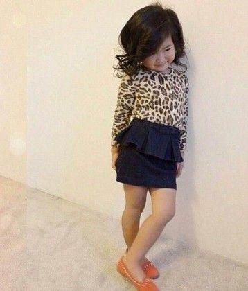 Denim Leopard Dress - Petite Kids