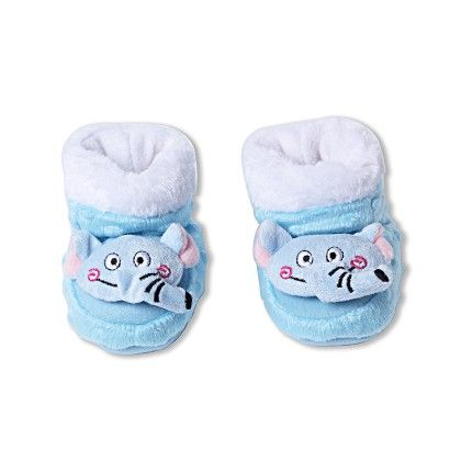 Ole Baby Soft Furry 3d Ole Toons Shoes -blue