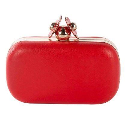 Red Daisy Box Hand Bag - Arancia