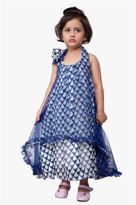 Stylestone Blue Halter Long Maxi Dress With Shoulder Brooch