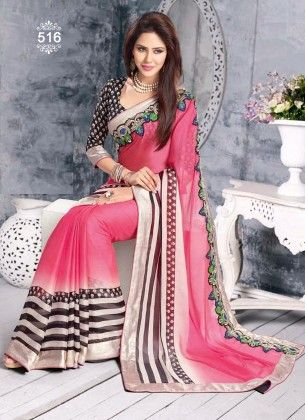 Lace Work Designer Saree - Fashion Fiesta