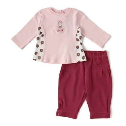 Set Of 2 Top & Pants -light.pink & Offwhite Print - WWW