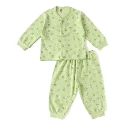 Green Teddy With Car Print Full Sleeves Set - ZERO