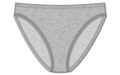 Plus Hi Cut Brief - Gray - Rene Rofe