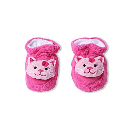 Ole Baby Soft Furry 3d Ole Toons Shoes Pink