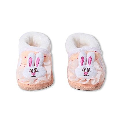 Ole Baby Soft Furry 3d Ole Toons Booties Peach