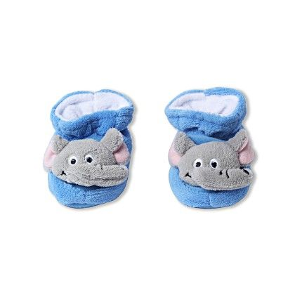 Ole Baby Soft Furry 3d Ole Toons Shoes - Blue