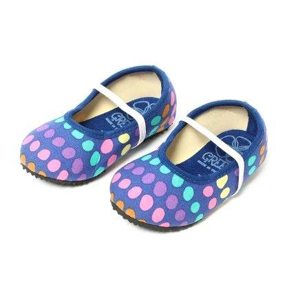 Shoes With Multicolor Polka Dot - Dark Blue - Lek Cotton