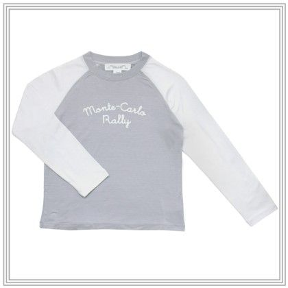 Max Long Sleeve Raglan T Shirt With Applique Grey - Chateau De Sable