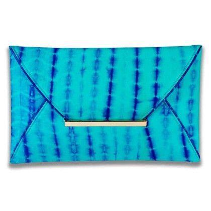 Blues Tiedye Envelope Hand Bag - Arancia