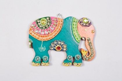 Key Holder Elephant Blue - Color Crave