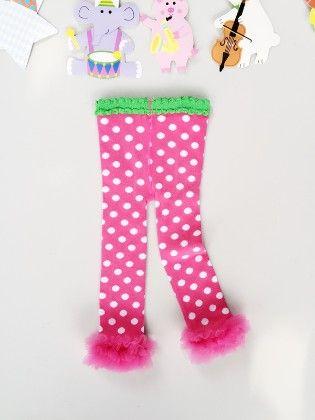 Pink Polka Dots Ruffled Tights - Snuggle Bunny